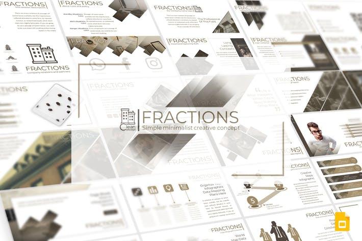 Fractions - Google Slides Template