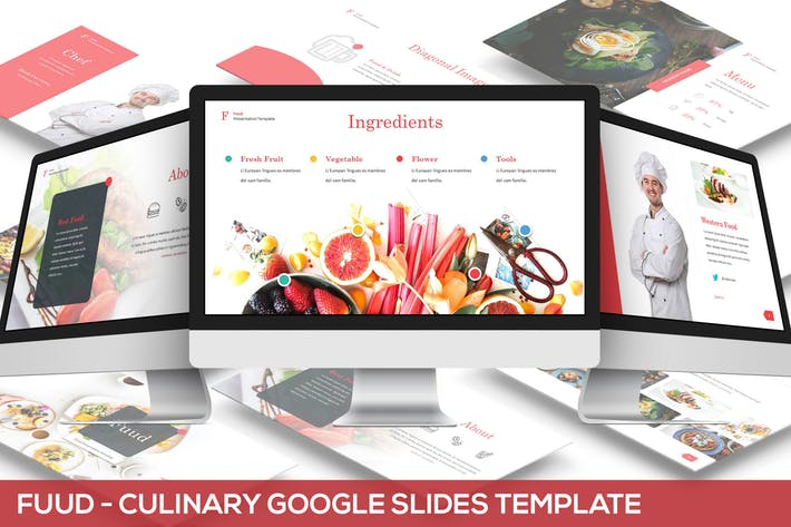 Fuud - Culinary Google Slides Template