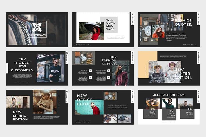 Gliiterati : Fashion Powerpoint Presentation