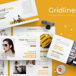 Gridlines - Powerpoint Template