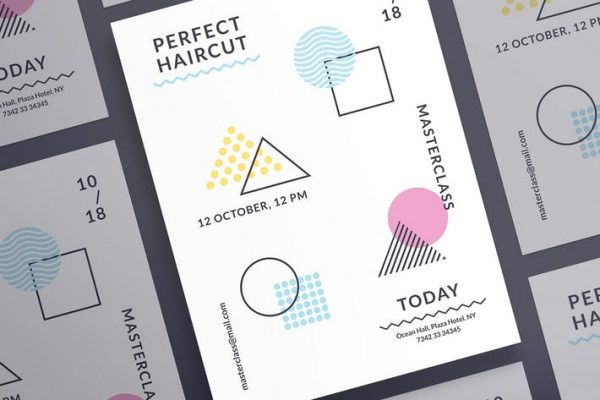 Haircut Masterclass Poster Template