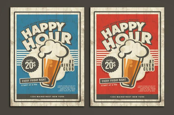 Happy Hour Vintage Flyer