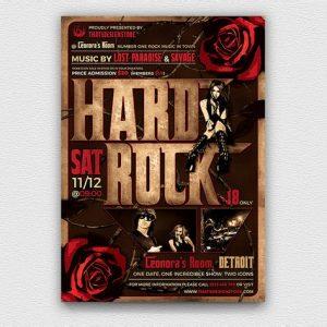 Hard Rock Flyer Template V1