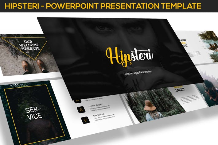 Hipsteri - Hipster Style Powerpoint Presentation