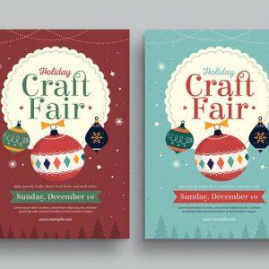 Holiday Christmas Craft Fair Event Flyer