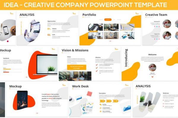 iDea - Creative Company Powerpoint Template