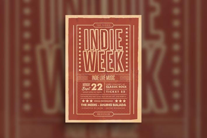 Indie Week Event Flyer