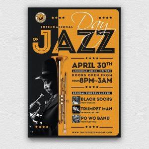 Jazz Day Flyer Template V1