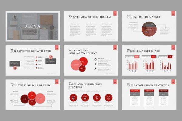 Jedva : Pitch Deck Powerpoint Template