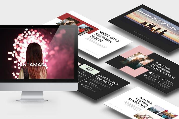 Kintamani : Summer Festival Powerpoint Template
