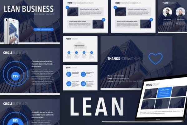 Lean PowerPoint Template