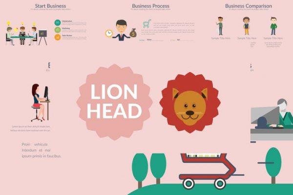 LIONHEAD Powerpoint Template