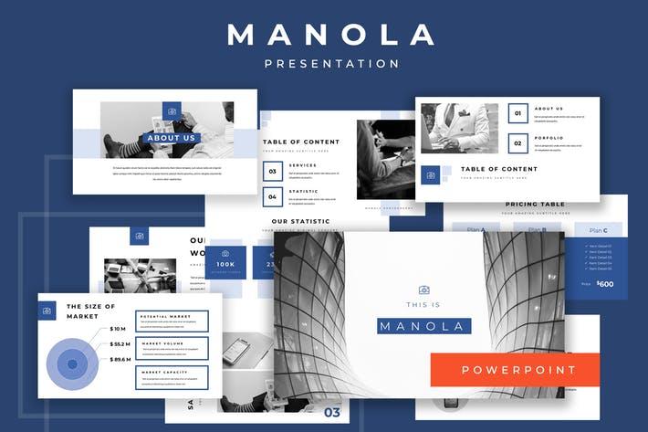 Manola Pitch Deck Powerpoint Presentation
