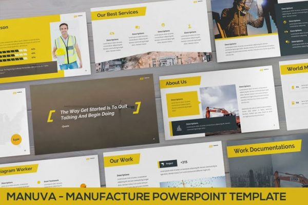 Manuva - Manufacture Powerpoint Template