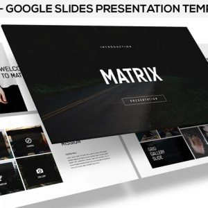 Matrix - Minimal Google Slides Presentation
