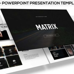 Matrix - minimal powerpoint presentation