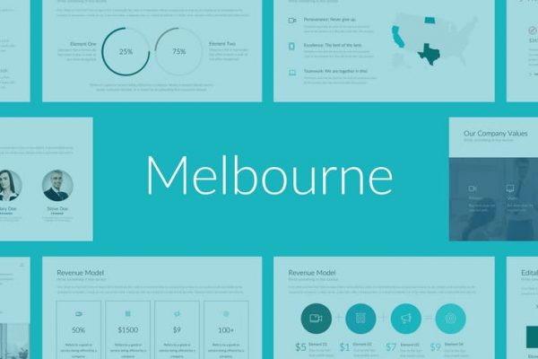 Melbourne Professional PowerPoint Template