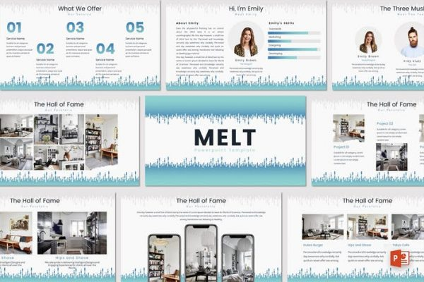 MELT - Powerpoint Template