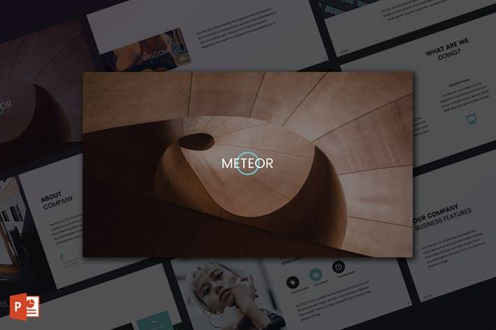 Meteor PowerPoint Template