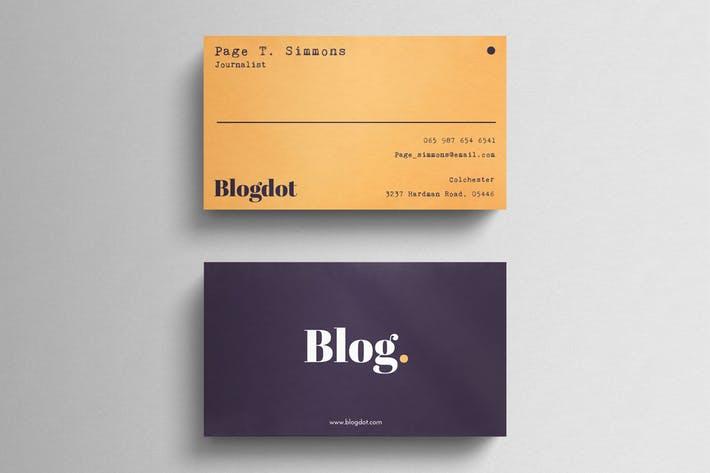 Minimal Blogger Business Card