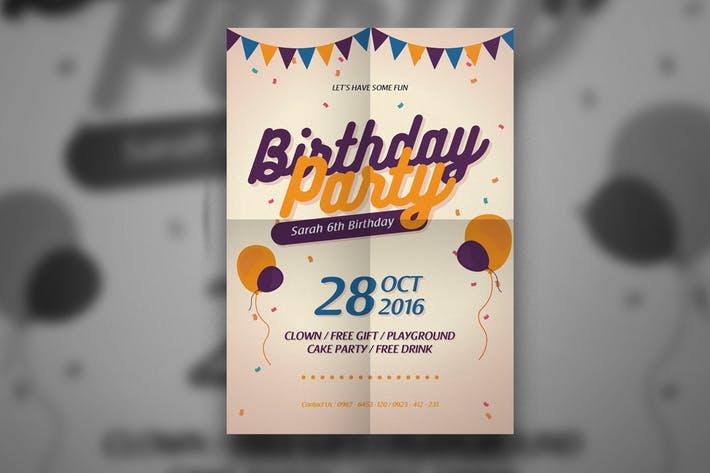 Modern Birthday Flyer
