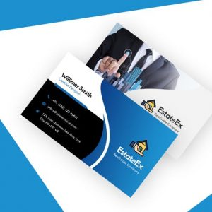 Modern Visiting Card For Real Estate Agent