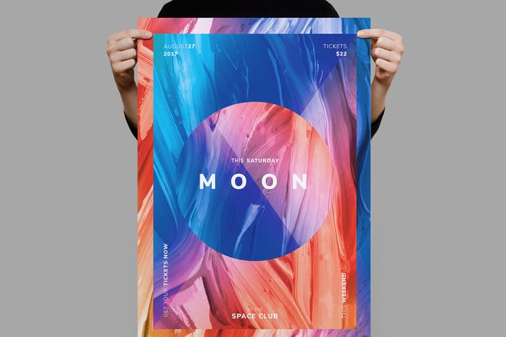Moon Flyer / Poster Template