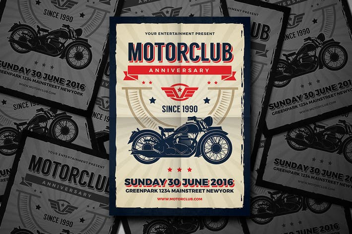 Motor Club Anniversary Event Flyer