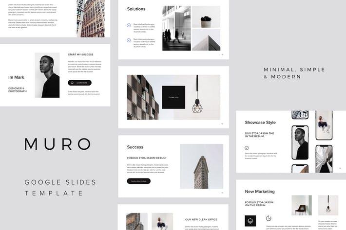 MURO - Google Slides Minimal Template