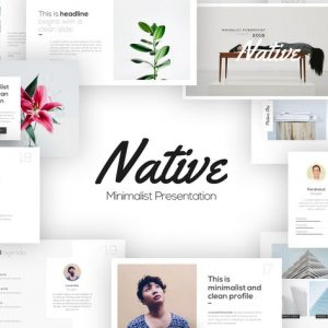 Native Minimalist PowerPoint Template