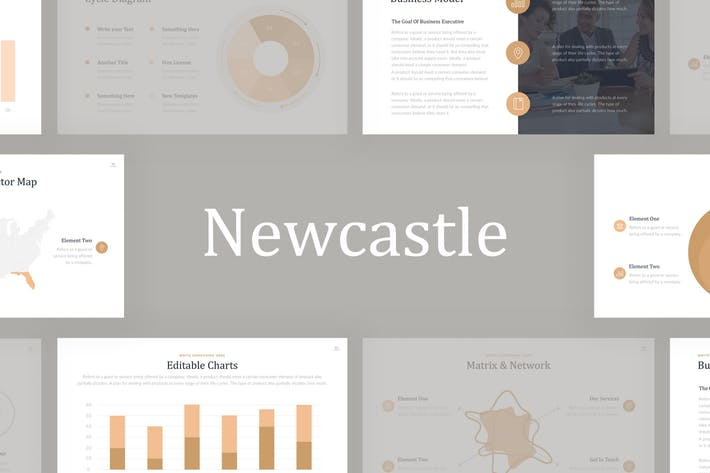 Newcastle Professional PowerPoint Template