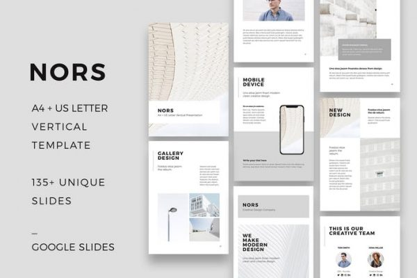 NORS Vertical Google Slides A4 US Letter Template