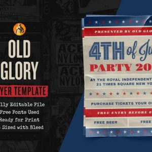Old Glory Fourth of July Event — Flyer Template