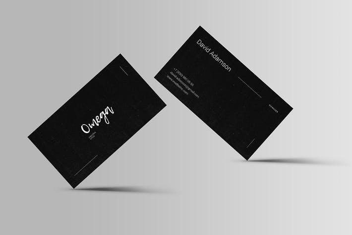 Omega Business Card Template
