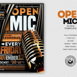 Open Mic Flyer Template