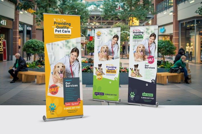 Pet Clinic Roll-Up Banner