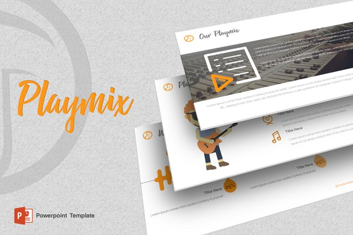 Playmix - Music Powerpoint Template