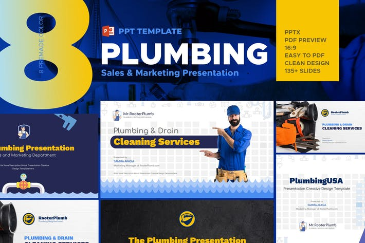 Plumbing Industry Powerpoint Template
