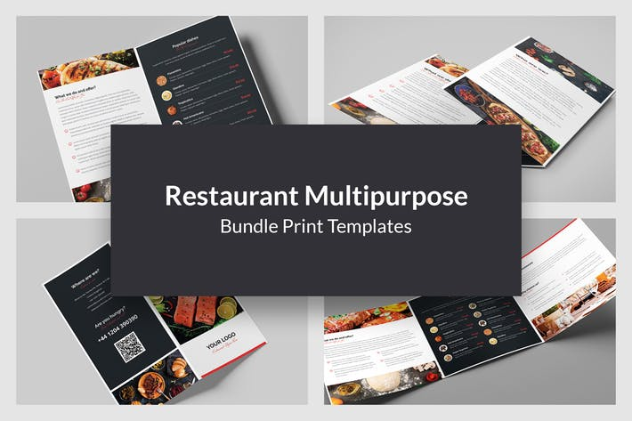 Restaurant – Bundle Print Templates 5 in 1