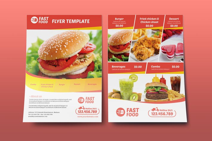Restaurant/ Fast Food - Flyer Template