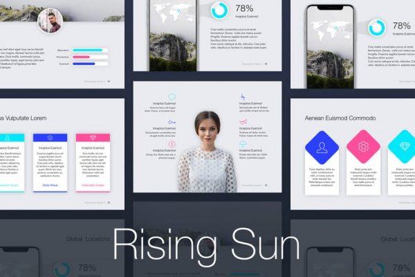 Rising Sun PowerPoint Template