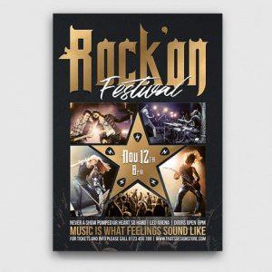 Rock Festival Flyer Template V4