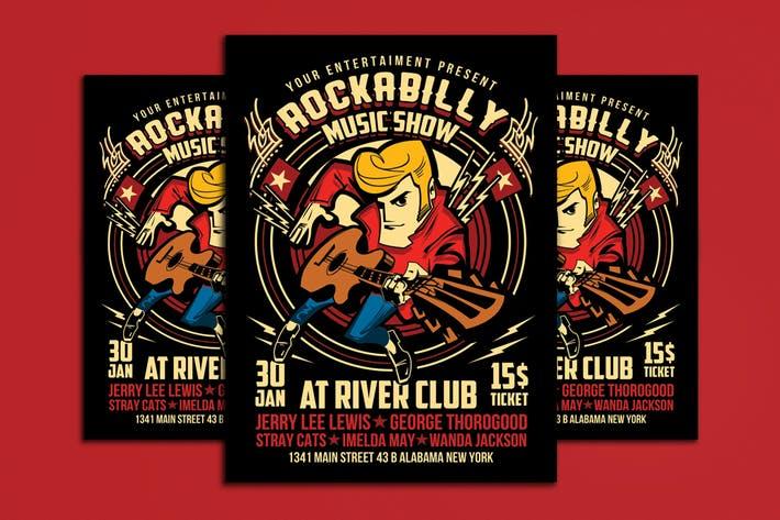 Rockabilly Music Show Poster Flyer Vol 2