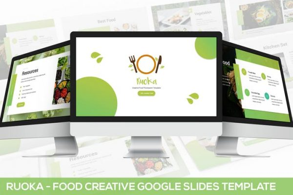 Ruoka - Creative Food Google Slides Template