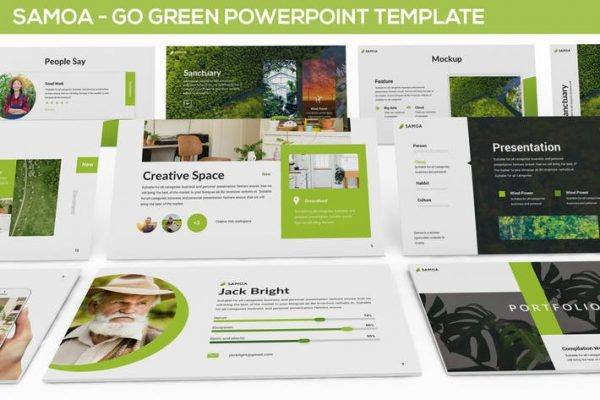 Samoa - Green Campaign Powerpoint Template