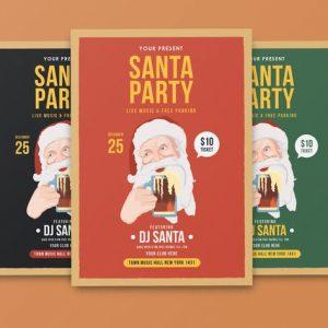Santa Party Flyer