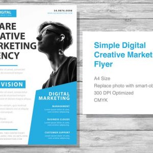 Simple Digital Creative Marketing Flyer