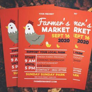 Simple Farmers Market Flyer