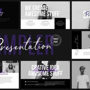 Simpler Presentation - Powerpoint Template