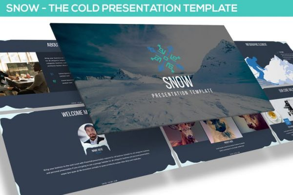 SNOW POWERPOINT PRESENTATION TEMPLATE
